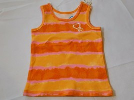 The Children's Place Baby Girl's Sleeveless Tank Top 6-9 Months Orange stripes - $13.42