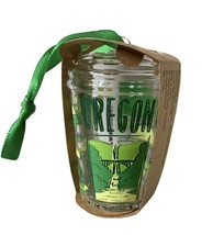New Starbucks 2020 Glass Cold Cup Been There Series Oregon Ornament - $23.74