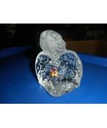 Fenton Art Glass Blue BIRTHSTONE ANGEL Figurine Clear & Frosted - $19.79