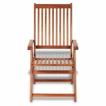 vidaXL 2x Acacia Wood Outdoor Dining Chair Home Kitchen Furniture Seat Dinner image 2
