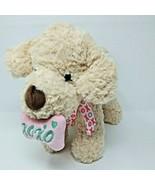 Hug Fun Cream Puppy Love Dog Plush Toy Pink Bone Ribbon Valentine's Gift... - $12.16