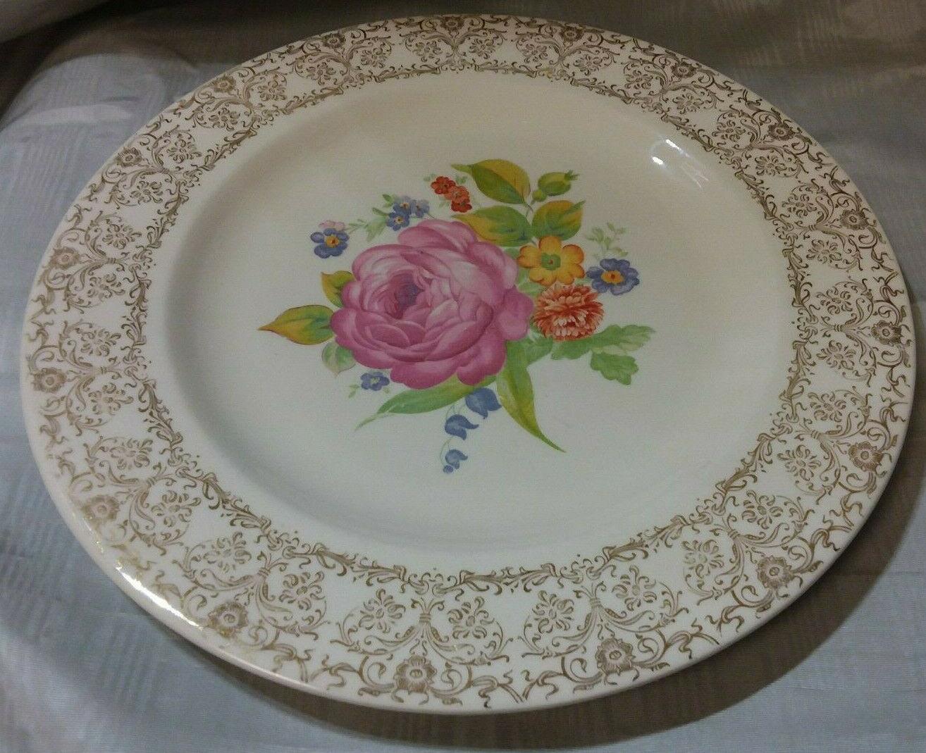 Tea Rose by Royal China Plate USA 1950/'s.