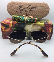 Polarized MAUI JIM Sunglasses SEA HOUSE MJ 772-16R Rose Gold Aviator w/Maui Rose