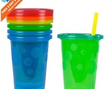 4 COUNT The First Years Take Toss Spill-Proof Baby Training Sippy Cups w/ Straws