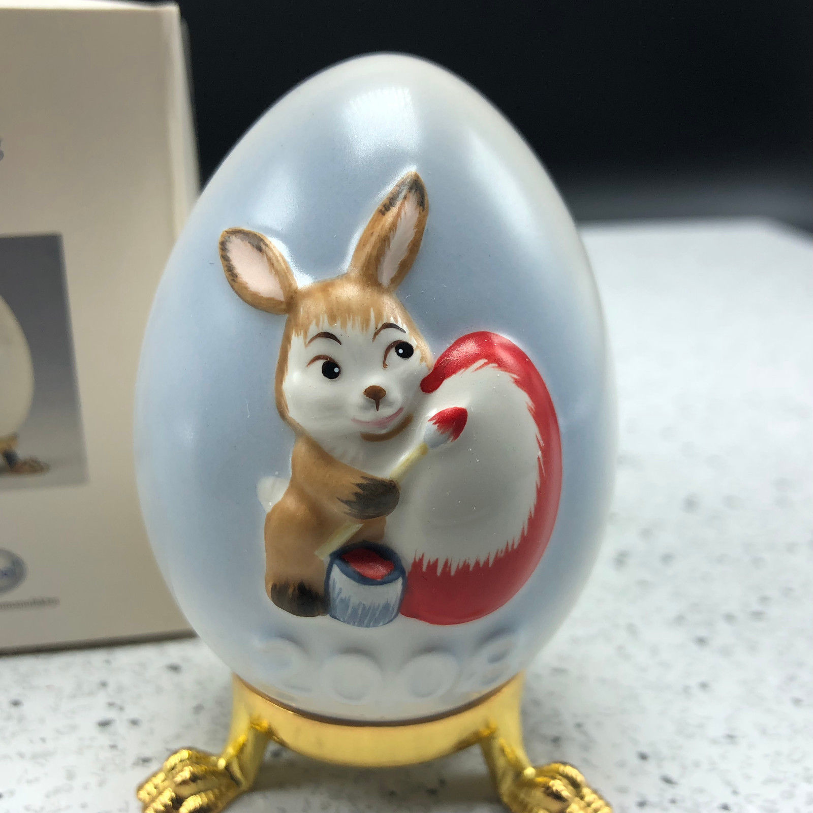 2008 GOEBEL ANNUAL EASTER EGG West Germany 31st edition figurine 102662 bunny UK