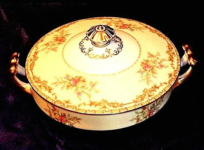 Noritake China Nana Rosa Pattern # 682 Tureen Serving AB 336-G Vintage 2 Piece