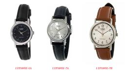 Casio Ladies LTP1095E-1A / LTP1095E-7A & LTP1095E-7B Genuine Leather Ban... - $24.84 CAD+