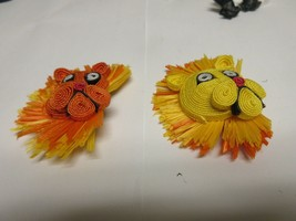 "Costume Jewelry ,Vintage , Lion King Pins (2) , 3"" X 2"" - $25.00"