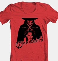 V for Vendetta T-shirt Free Shipping comic book movie cotton graphic red tee image 1