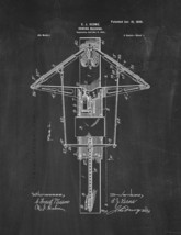 Rowing Machine Patent Print - Chalkboard - $7.95+