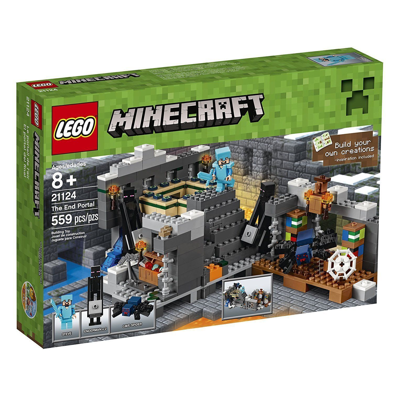 LEGO Minecraft The End Portal Set 21124 [New Building Set]