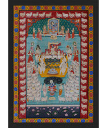Large Beautiful Wall decorative Royal Pichwai Painting By Indian Artist ... - $1,394.51