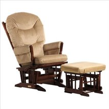 2 Post Multiposition Glider and Nursing Ottoman Set in Brown - $1,049.00