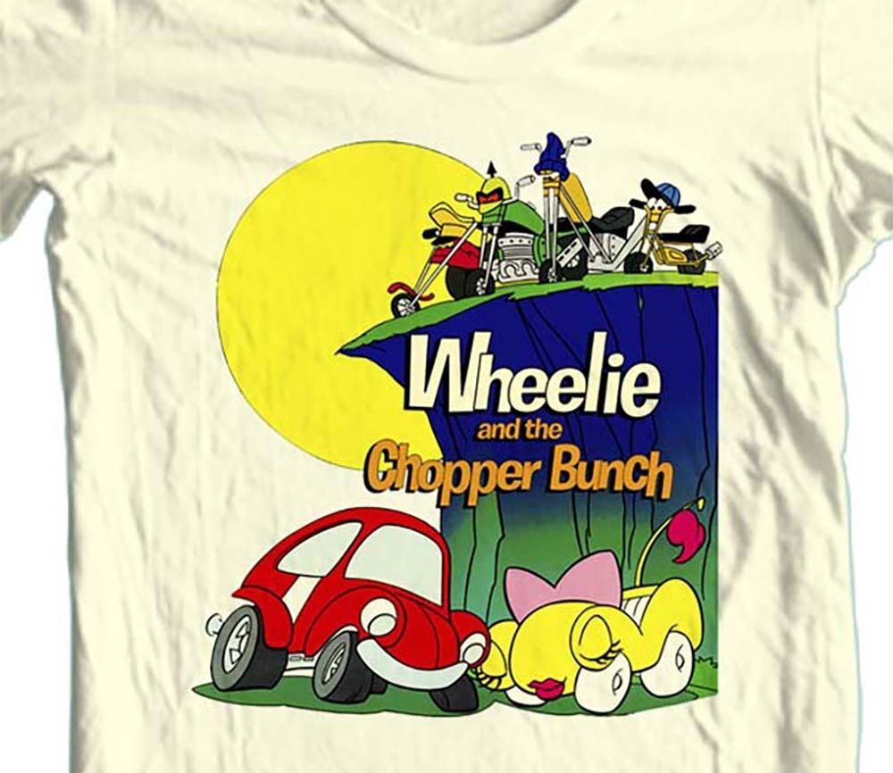 Wheelie and Chopper Bunch T-shirt 80's Saturday Morning Cartoons 100% cotton tee