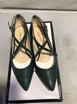 Nine West Artzyo Flats Green Leather Pointy Toe Womens Size 5M - €34,82 EUR