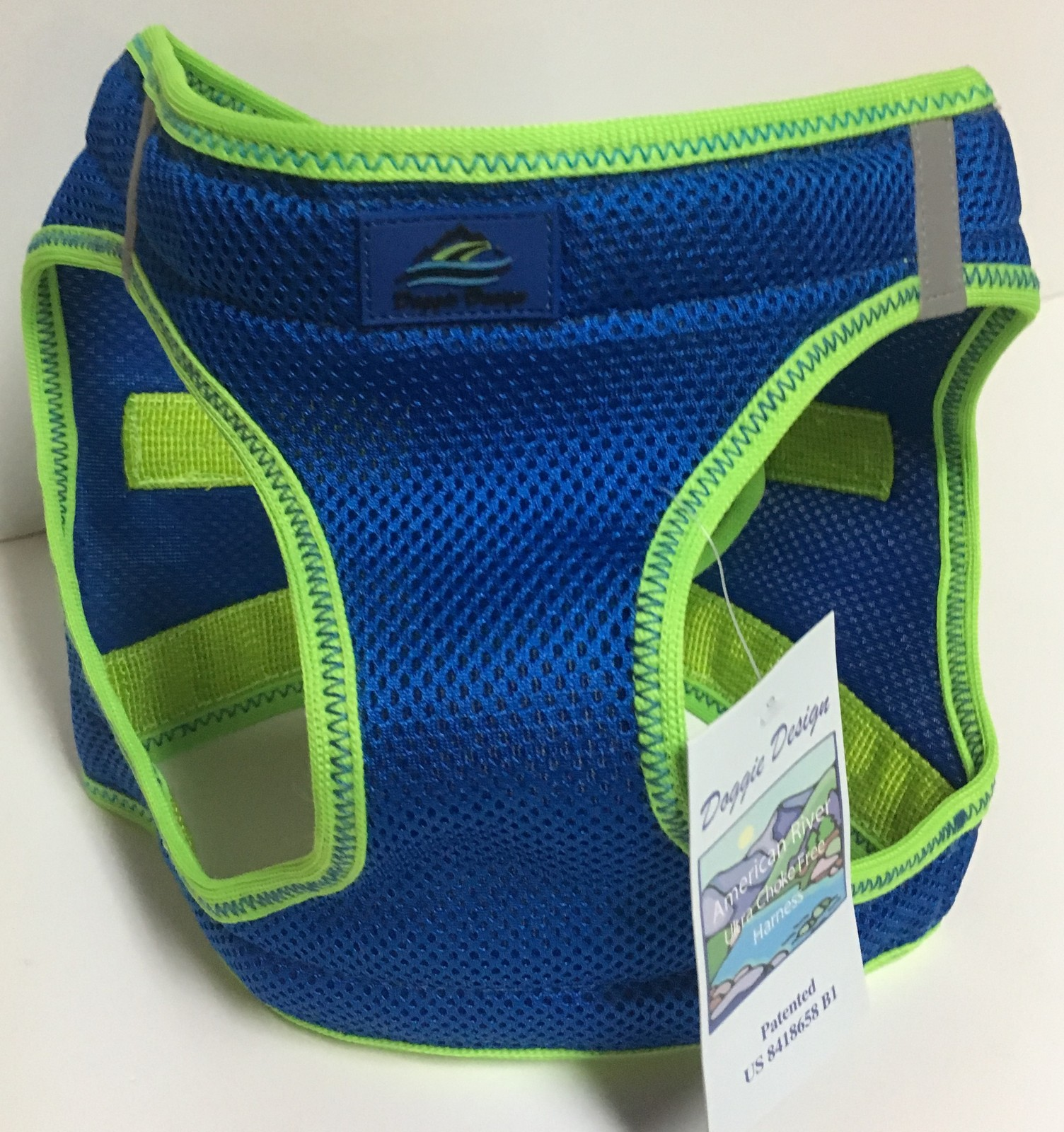 Doggie Design Ultra Choke Free Harness XXL Dog Sport Top Cobalt Blue NWT