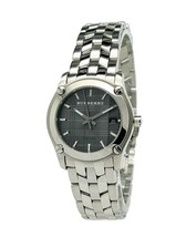 Burberry BU1851 Check Small Black Dial Swiss Made Womens Watch - $267.20