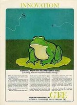 Frog Lilly Pad General Telephone Electronics Radar GTE 1965 AD Bill Conl... - $14.99