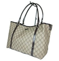 Auth GUCCI GG Web PVC Canvas Leather Browns Tote Bag GT2027 - $349.00