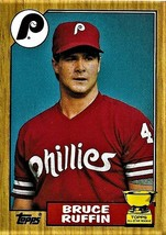 1987 Topps Card, #499. Bruce Ruffin, Philadelphia Philllies, Rookie Cup,... - $0.99
