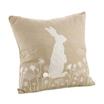 Fennco Styles Handmade Cottontail Rabbit Embroidered Throw Pillow - 2 St... - $48.50