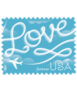 USPS 2017 Sheet of 20 Forever Stamps. Love Skywriting - $245,79 MXN