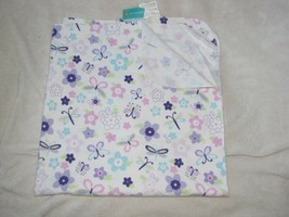 Circo Baby Girl Cotton Flannel Receiving Blanket White Pink Brown Flower Green - $24.74