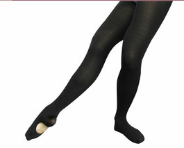 Leo's 414-21 Black Girl's Size Large Firm Fit Convertible Tights - $9.99