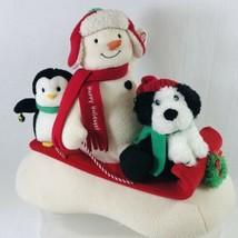 HALLMARK 2007 JINGLE PALS SLEIGH RIDE Animated Singing Plush Snowman Dog... - $31.78