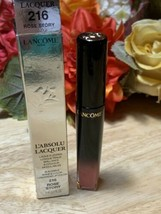 Lancome L'Absolu Lacquer Longwear Lip Color #216 Rose Story BNIB New in Box - $19.79