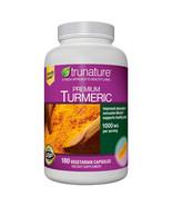 NEW trunature Premium Turmeric 1,000 mg., 180 Vegetarian Capsules FREE S... - $34.99