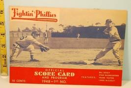 1946 Fightin' Phillies Baseball Score Card vs NY Giants - $9.85
