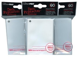 Ultra Pro Card Supplies YuGiOh Sized Deck Protector Sleeves White 60 Cou... - $12.18