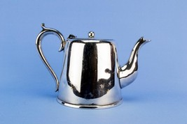Small Art Deco Silver plated Teapot Tapered Ball Finial Vintage English ... - $41.52