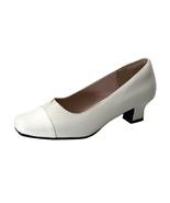 PEERAGE Leela Women's Wide Width Low Heel Leather Pump Shoes  - $89.95