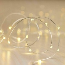Philips 90ct Christmas LED Dewdrop String Fairy Lights Warm White Silver Wire image 2
