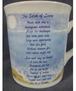THE SECRET OF LIVING Coffee Mug 10oz Ceramic Russ Berrie Inspirational  - $17.95