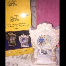 Disney Beauty and the Beast Clock pendulum table clock Swing clock Japan... - $56.43