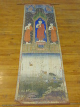 RARE ANTIQUE CHINESE PALATIAL SIZE HAND PAINTED WALL HANGING OF BUDDHA O... - $32,000.00
