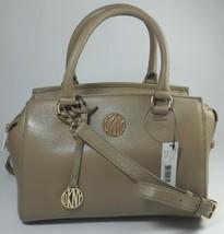 Donna Karan DKNY Dune Beige Leather Tote Top Handle Bag Medium Handbag - $290.22