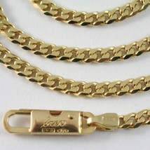 MASSIVE 18K GOLD GOURMETTE CUBAN CURB CHAIN 2.8 MM 24 IN. NECKLACE MADE IN ITALY image 2