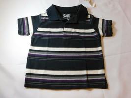 The Children's Place Bambino Polo Manica Corta Camicia Nera Misura 6-9 Mesi - $13.61