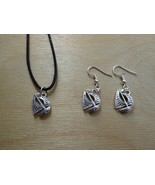 Tropicalia Handcrafted Necklace Earrings 3D Boat Sea Tibetan Silver Char... - $1.50+