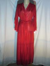 Vintage Molyclaire Elegant Red Robe Women Size Large - $38.64