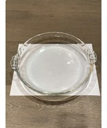 "Vintage '80s Pyrex Clear 9.5"" Pie Plate Bake & Serve Fluted 229 USA - $15.00"