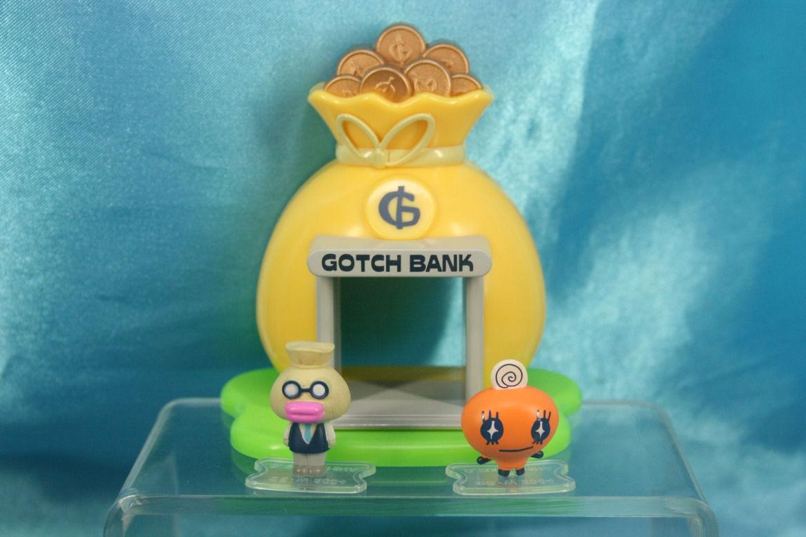 Bandai Tamagotchi Banker Gotch Bank House Mini Figure Set Memetchi