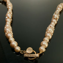 Vintage Givenchy Long Faux Pearl & Crystal Necklace  image 4