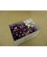 Designer Hanging Balls One Box Decorative 1in Diameter Purple/White Glass - $16.92