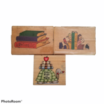 Teachers Rubber Stamps Set Take Home & Sign Back to School Books Reading - $10.00