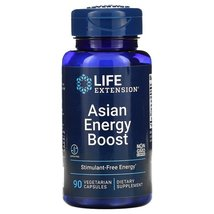 Life Extension Asian Energy Boost 90 Caps Cordyceps/Fermented Asian ginseng - $15.42